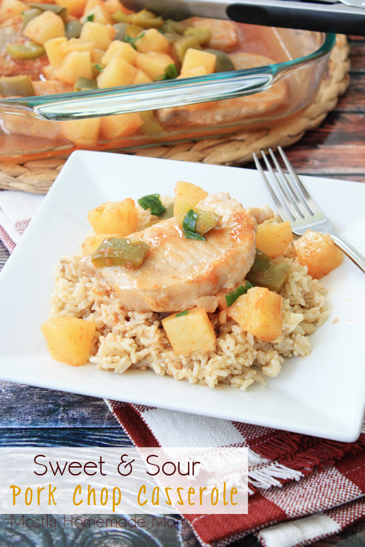 sweet-and-sour pork chop casserole