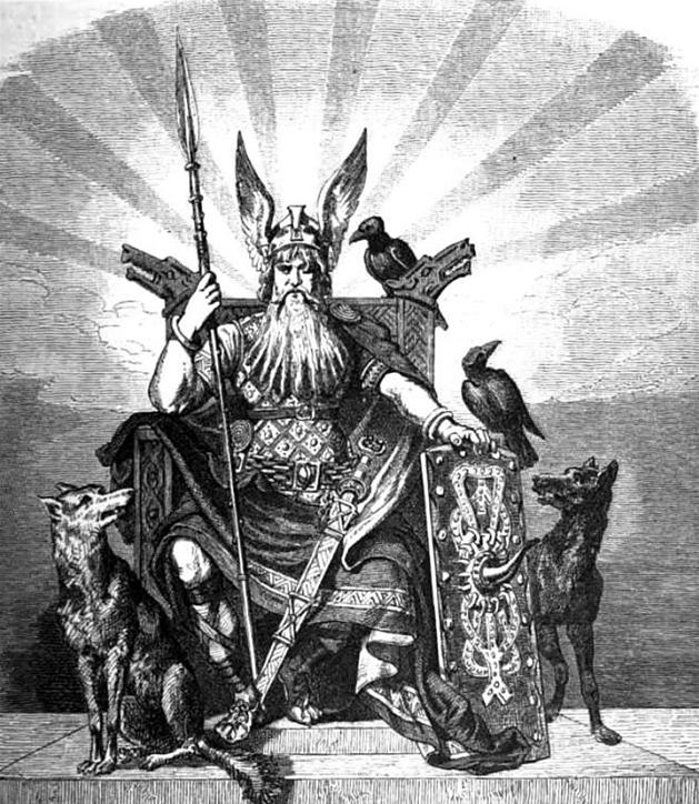 Image of Odin the Allfather Viking supreme god