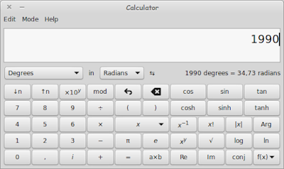 Calculator Bawaan Linux Default