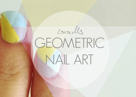 Geometric nail art header