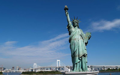 Statue o f Liberty in New York Symbol of Freedom and Democracy
