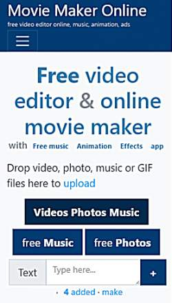 Movie Maker Online Image To Video Converting Website In Hindi