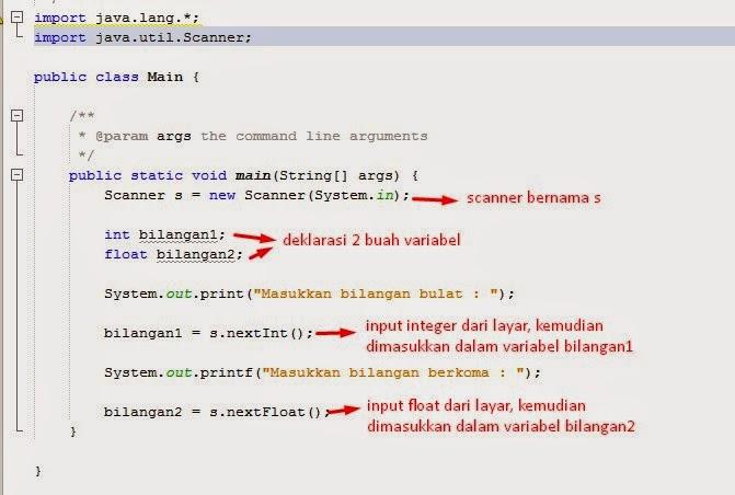 Fungsi Input/Output Dasar pada Java di NetBeans 3