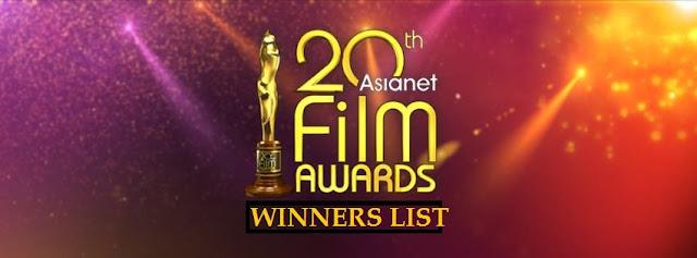 Winners List 20th Asianet Film Awards 2018