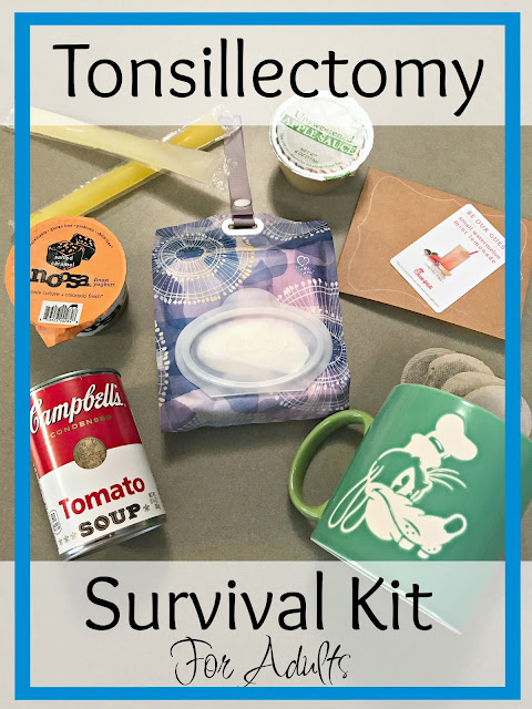 Tonsillectomy survival kit for adults, What is needed for recovery of a tonsillectomy in adults, How can I help my spouse recover from a tonsillectomy, Kleenex go anywhere coupon, Kleenex Go anywhere ibotta savings, Where to buy Kleenex Go anywhere, Tonsillectomy survival kit,