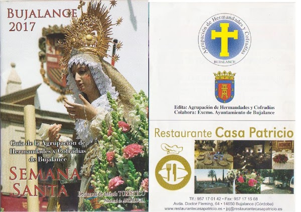 Programa, Horario e Itinerario Semana Santa Bujalance (Córdoba) 2017