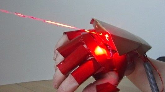 Home-made Iron Man laser glove