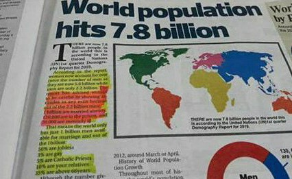 All Single Ladies Will Humble Themselves After Reading This New World Population Report