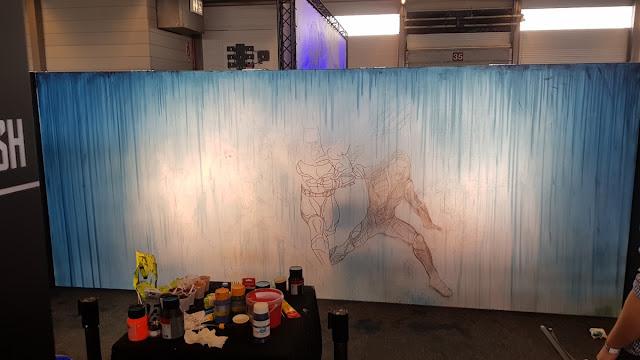 Ben Heine Art - Justice League - Warner Bros Belgium - Live Performance - Facts Comic Con - Kinepolis Exhibition 2017