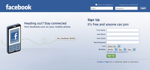 Facebook Login English