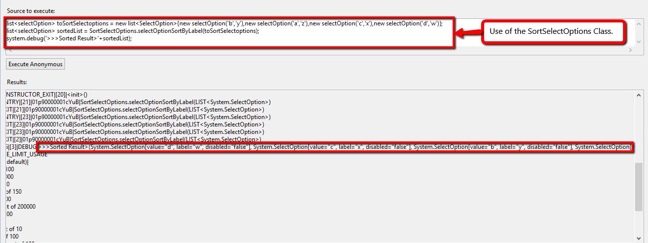 Sort selectoptions list in Apex | Salesforce com Cloud
