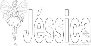 jessica name coloring pages | Coisinhas para Crianças: Nomes Femininos para Colorir