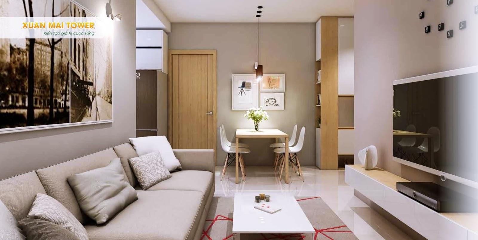 Phối cảnh khu căn hộ cao cấp Xuân Mai Tower Thanh Hoá