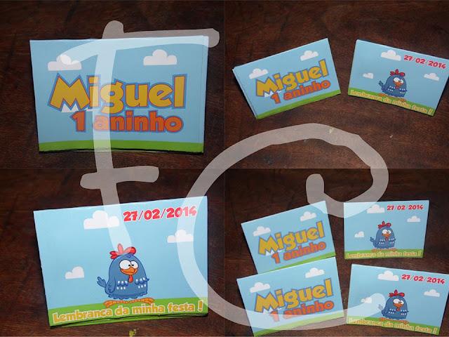 Tema Galinha Pintadinha - Personalizados do Miguel