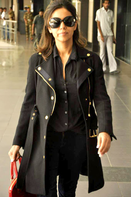 Gauri Khan snapped at the International Airport