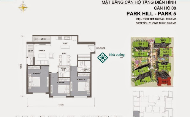 Căn hộ số 08 Times City Park Hill 5