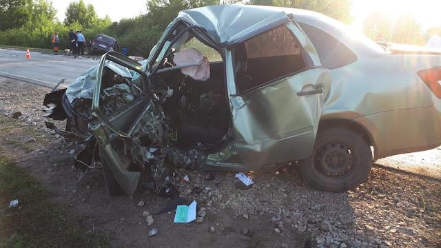 В Бирском районе столкнулись две легковушки: трое погибших