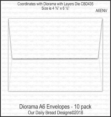 Diorama A6 Envelopes - 10 Pack