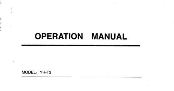 TIMBANGAN ELEKTRONIK / ELECTRONIC SCALE: BUKU MANUAL YH-T3