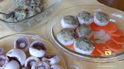 Preparare ciuperci umplute - etapa 7