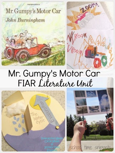 Mr. Gumpy's Moto Car Activities for K-3