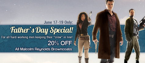 Malcolm Reynolds Browncoat Father's Day Special