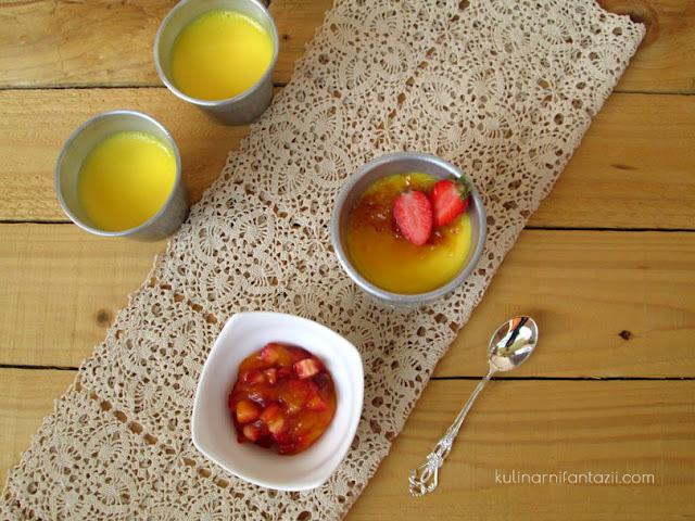 Крем карамел с манго