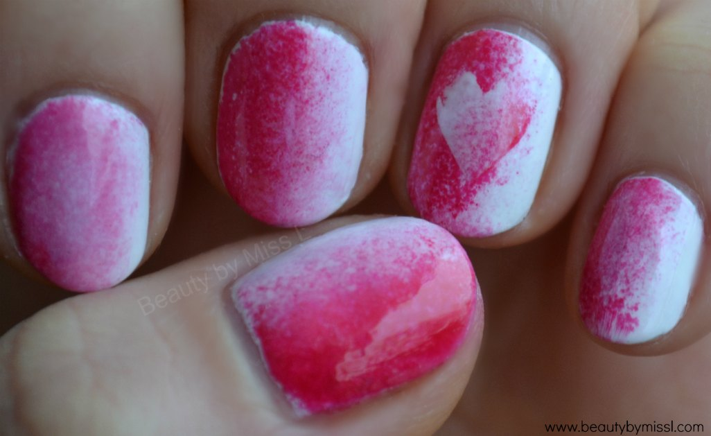 Valentine´s Day manicure for short nails