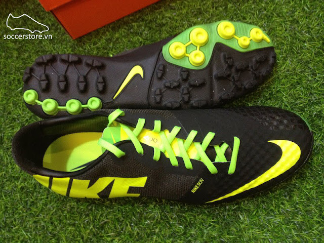 new styles 65094 7a688 Nike Bomba Finale II Black- Volt- Electric Green