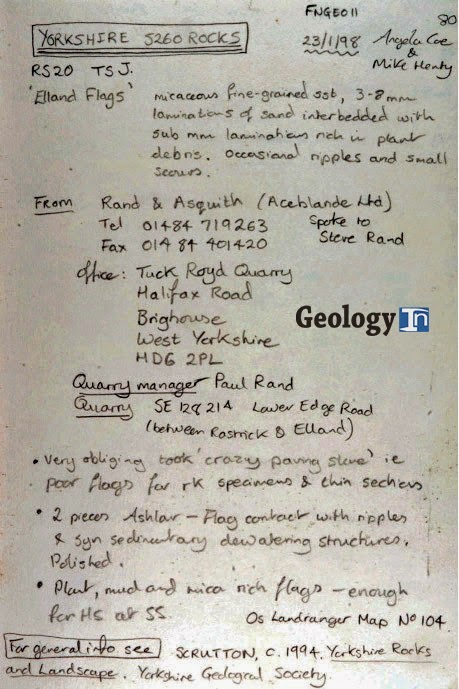 The Field Notebook geological geology in