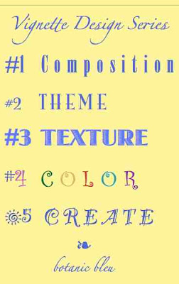Botanic Bleu Vignette Design Series 2 Theme