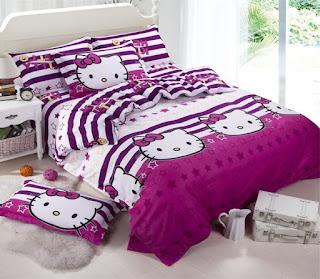 Gambar Sprei Motif Hello Kitty yang Lucu 7