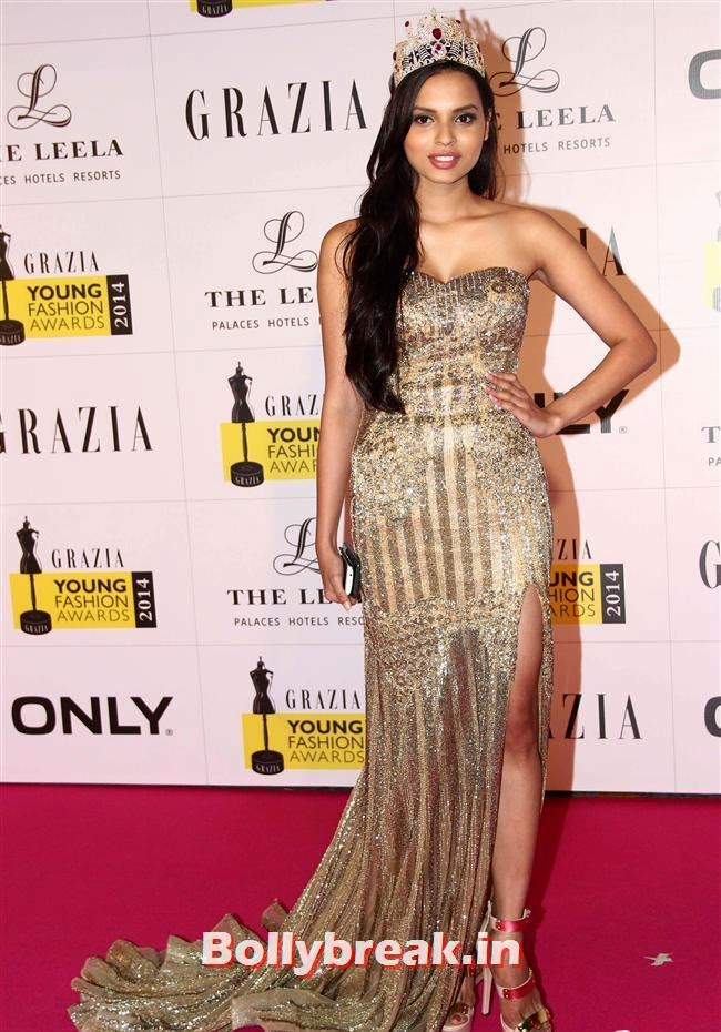Jhataleka Malhotra, Hottest Celebs of Bollywood at Grazia Young Fashion Awards 2014