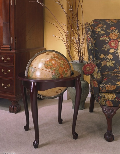 queen anne globe in a living room