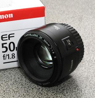 jual lensa fix canon 50mm f1.8 bekas