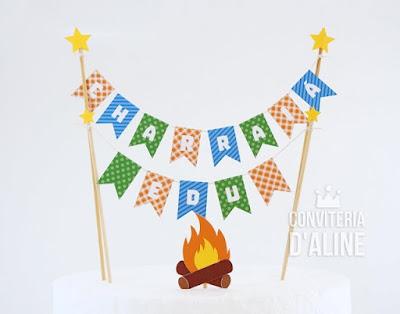festa junina topo bolo decoracao