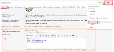 Comment ajouter une signature sur Gmail