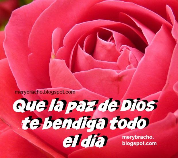 Buenos Deseos para este día. postal cristiana imagen saludo paz