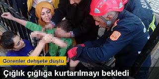 12 yaşındaki çocuğun koluna demir saplandı