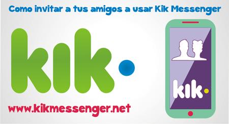Como invitar a tus amigos a usar Kik Messenger
