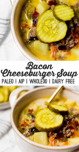 paleo bacon cheeseburger soup (aip, whole30, dairy free)
