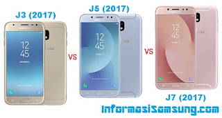 Perbandingan Galaxy J3 (2017) vs J5 (2017) vs J7 (2017)