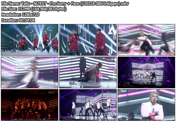 Download [Perf] NU'EST – I'm Sorry + Face @ SBS Inkigayo ...
