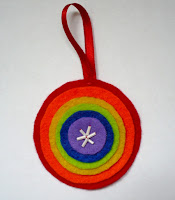 Rainbow felt ornaments 1