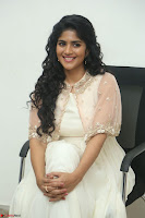 Megha Akash in beautiful Cream Transparent Anarkali Dress at Pre release function of Movie LIE ~ Celebrities Galleries 008.JPG