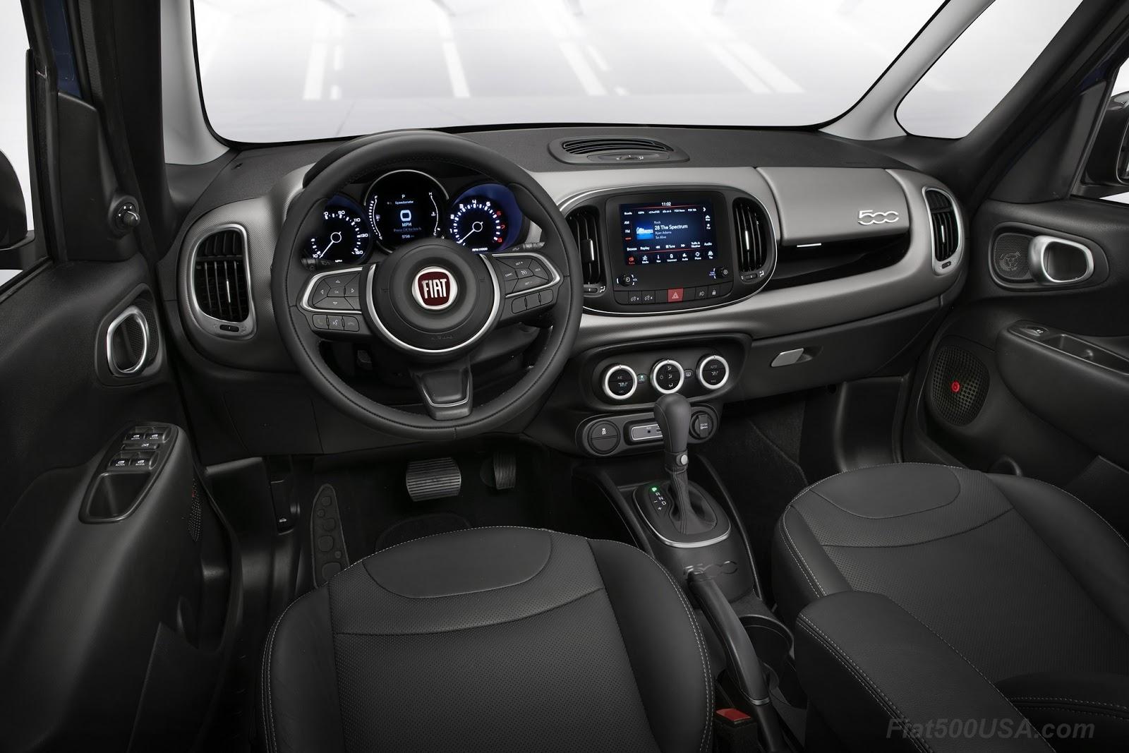 fiat 500l interior rear. 2018 fiat 500l interior changes 500l rear s
