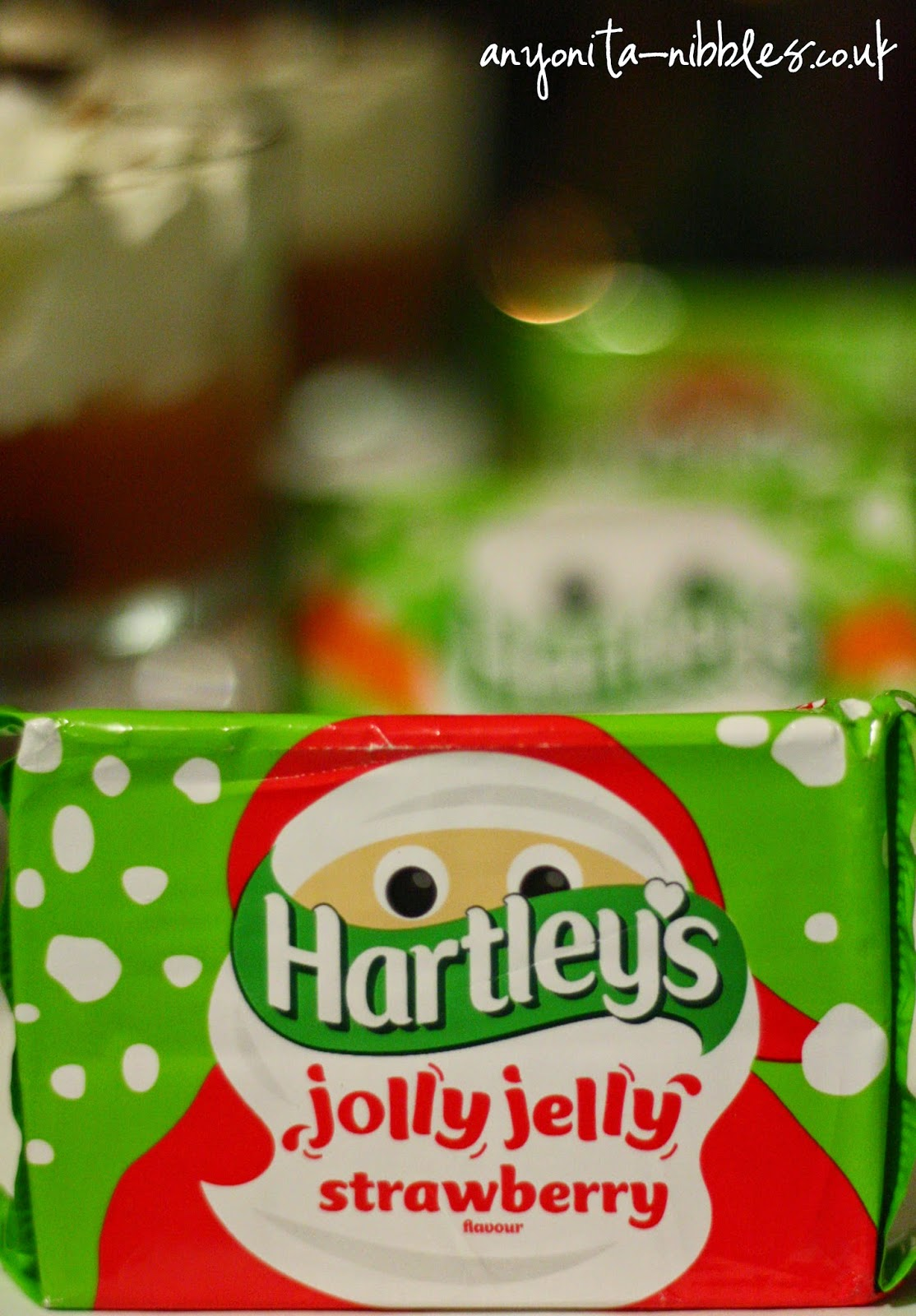 A packet of Hartley's Jolly Jelly dressed for Christmas from Anyonita-Nibbles.co.uk