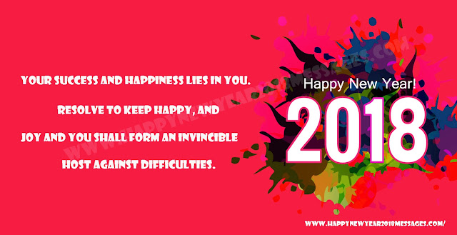 2018 Happy New Year Messages