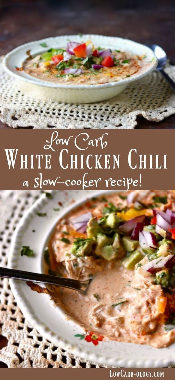 White Chicken Chili: Creamy Low-Carb Goodness