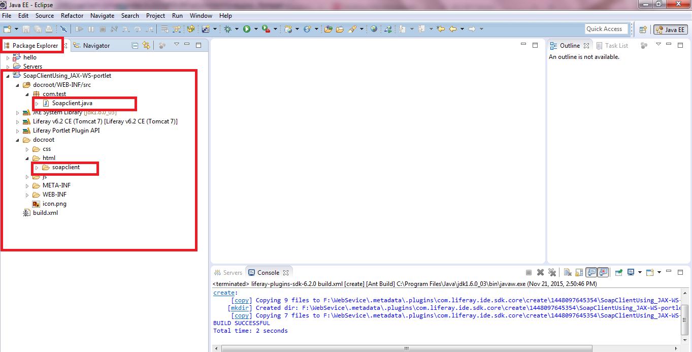 Consume Soap Web Service Using JAX-WS In Liferay Custom